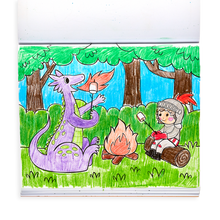 Load image into Gallery viewer, Knights and Dragons Color-In' Book