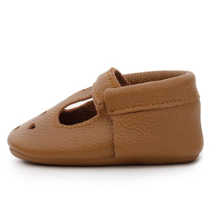 Classic Brown Mary Jane Moccasins