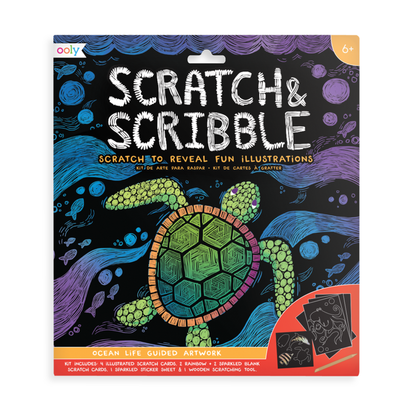 Scratch & Scribble Art Kit - Ocean Life