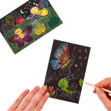 Load image into Gallery viewer, Bug Buddies Scratch and Scribble Mini Scratch Art Kit