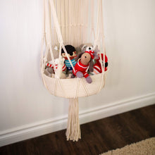 Load image into Gallery viewer, Macrame Hanging Toy Basket