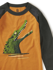 Chomp Raglan Graphic Tee