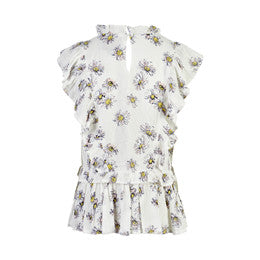 Creamie Daisy Blouse-Cloud