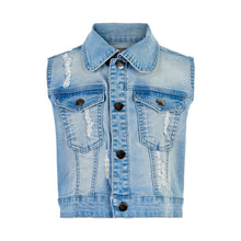 Load image into Gallery viewer, Creamie Denim Waistcoat