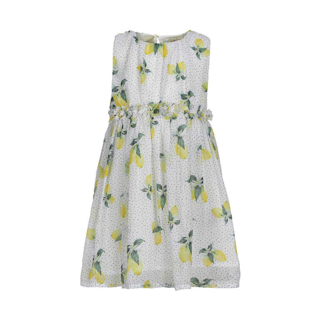 Creamie Lemon Dress-Cloud