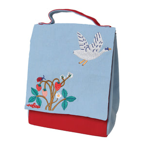 Swan and Strawberries Lunch Bag