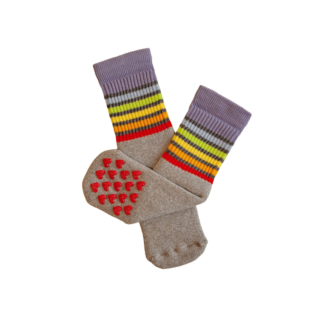 Pride Socks - Toddlers Non Slip Tube Socks- Gray