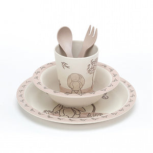 Amuseable My Friend Bunny Bamboo Tableware Set