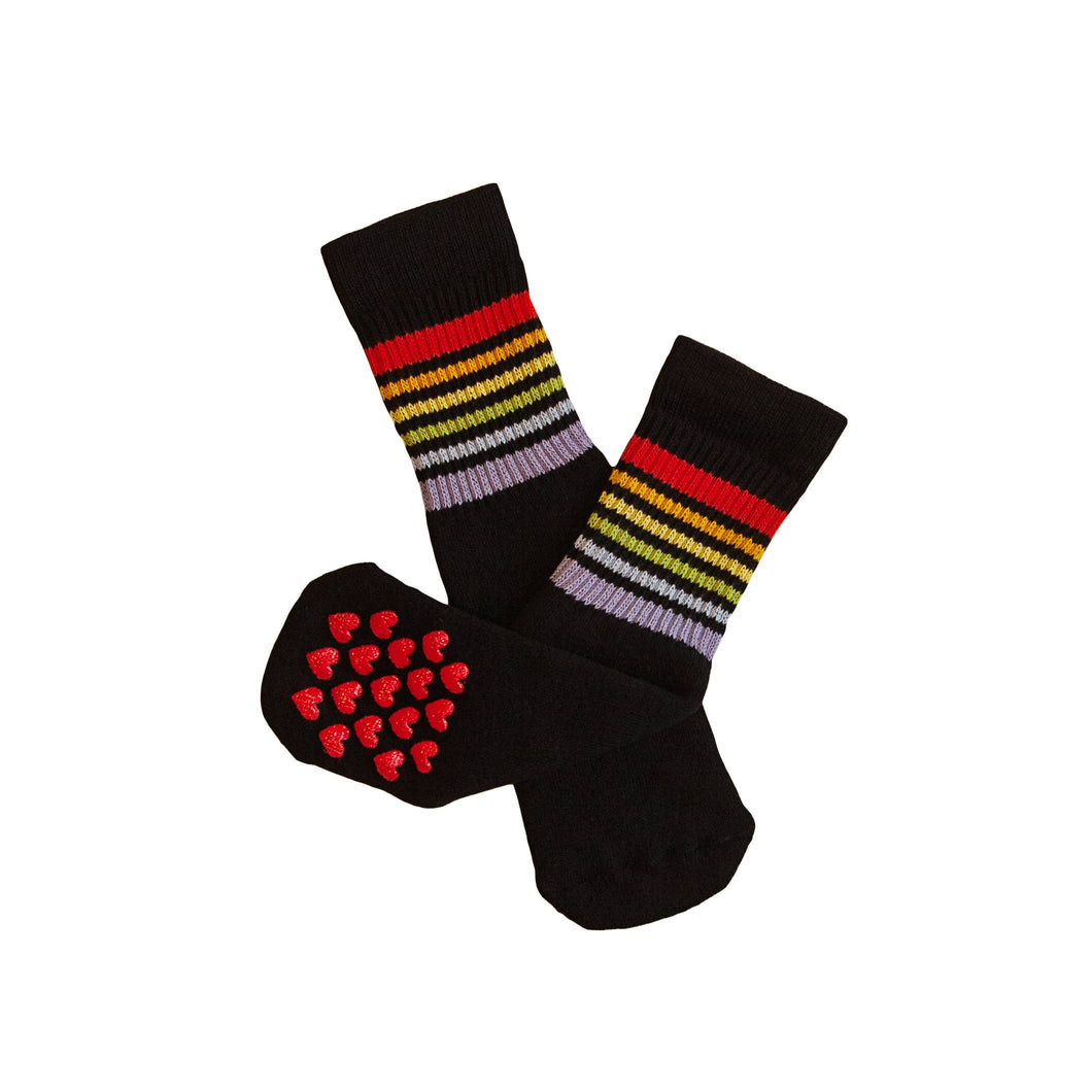 Pride Socks - Toddlers Non Slip Tube Socks- Black