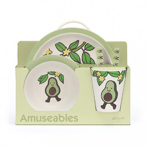 Amuseable Avocado Bamboo Tableware Set