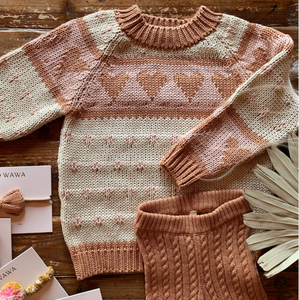Love Sweater - Pecan Old Rose