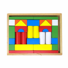Load image into Gallery viewer, Building Blocks with Wooden Box - 32 piece
