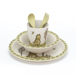Amuseable My Friend Dino Bamboo Tableware Set