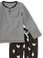 Load image into Gallery viewer, Mixed Print Henley Baby Set