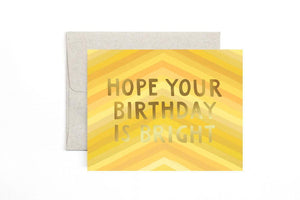 Yellow Stripe Birthday Card