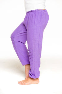 Cozy Knit Slouchy Moto Jogger-Electric Purple