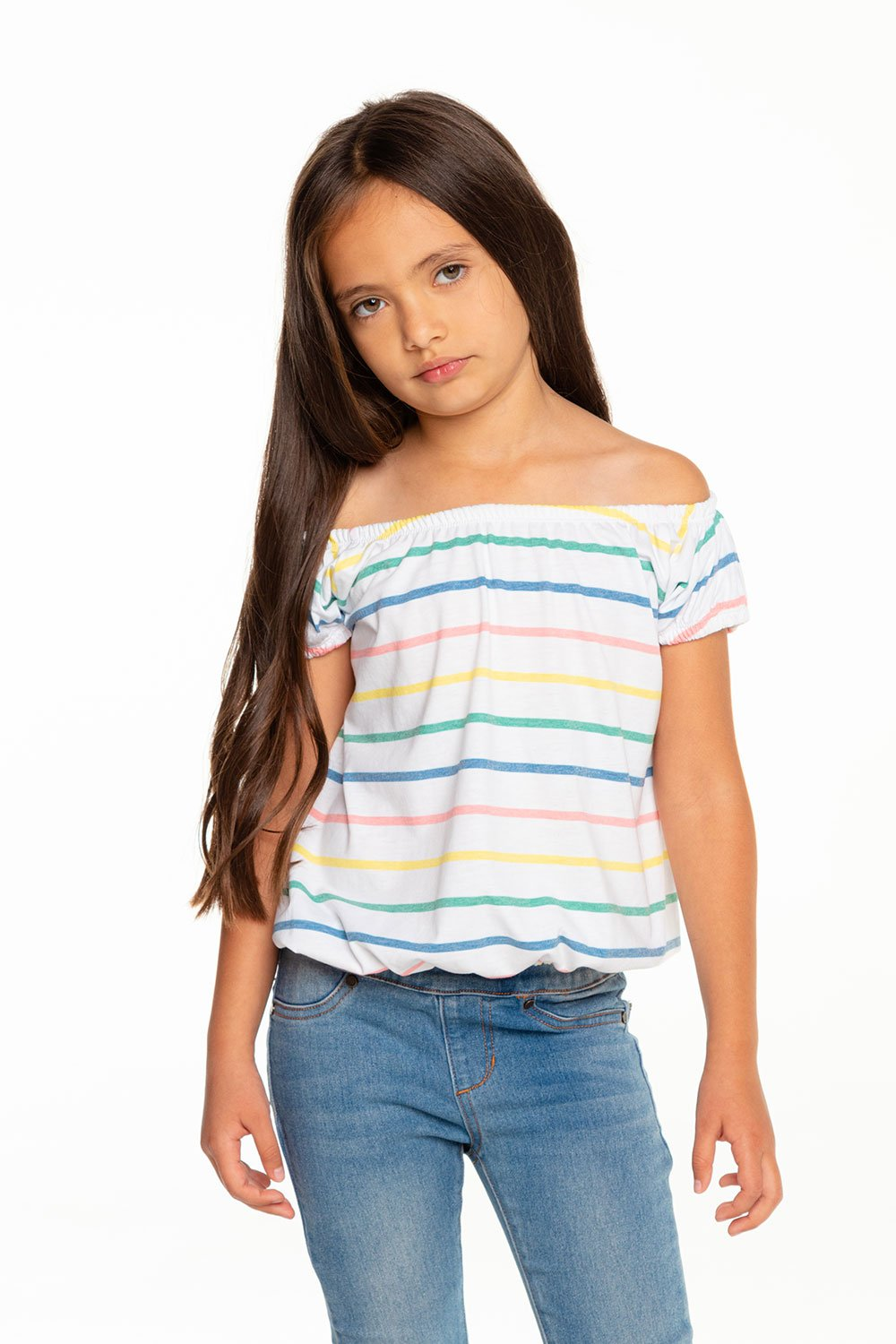 Vintage Jersey Off Shoulder Tee - Recycled