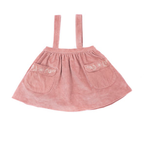 Adelaide Suspender Skirt- Canyon Rose