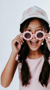 Child Flower Sunglasses - Pink