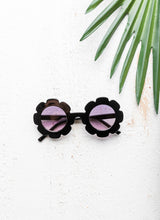 Load image into Gallery viewer, Child Flower Sunglasses - Black