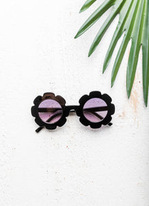 Child Flower Sunglasses - Black