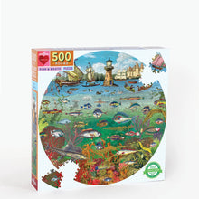 Load image into Gallery viewer, Fish & Boats 500 Piece Round Puzzle