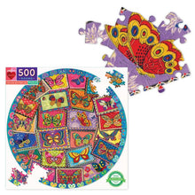 Load image into Gallery viewer, Vintage Butterflies 500 Piece Round Puzzle
