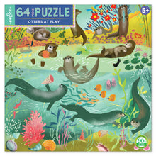 Load image into Gallery viewer, Otters at Play 64 Piece Puzzle