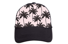 Load image into Gallery viewer, Pink Palms Trucker