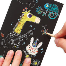 Load image into Gallery viewer, Safari Party Scratch and Scribble Mini Scratch Art Kit