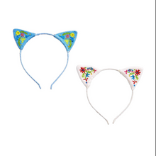 Load image into Gallery viewer, Cat Ears Embroidered Headband
