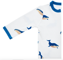 Load image into Gallery viewer, Printed Zippered Romper - Whale
