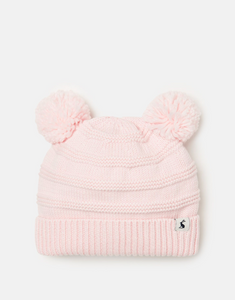Pom Pom Knitted Hat - Lilac Whisper