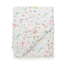 Load image into Gallery viewer, Muslin Swaddle - Unicorn Dream