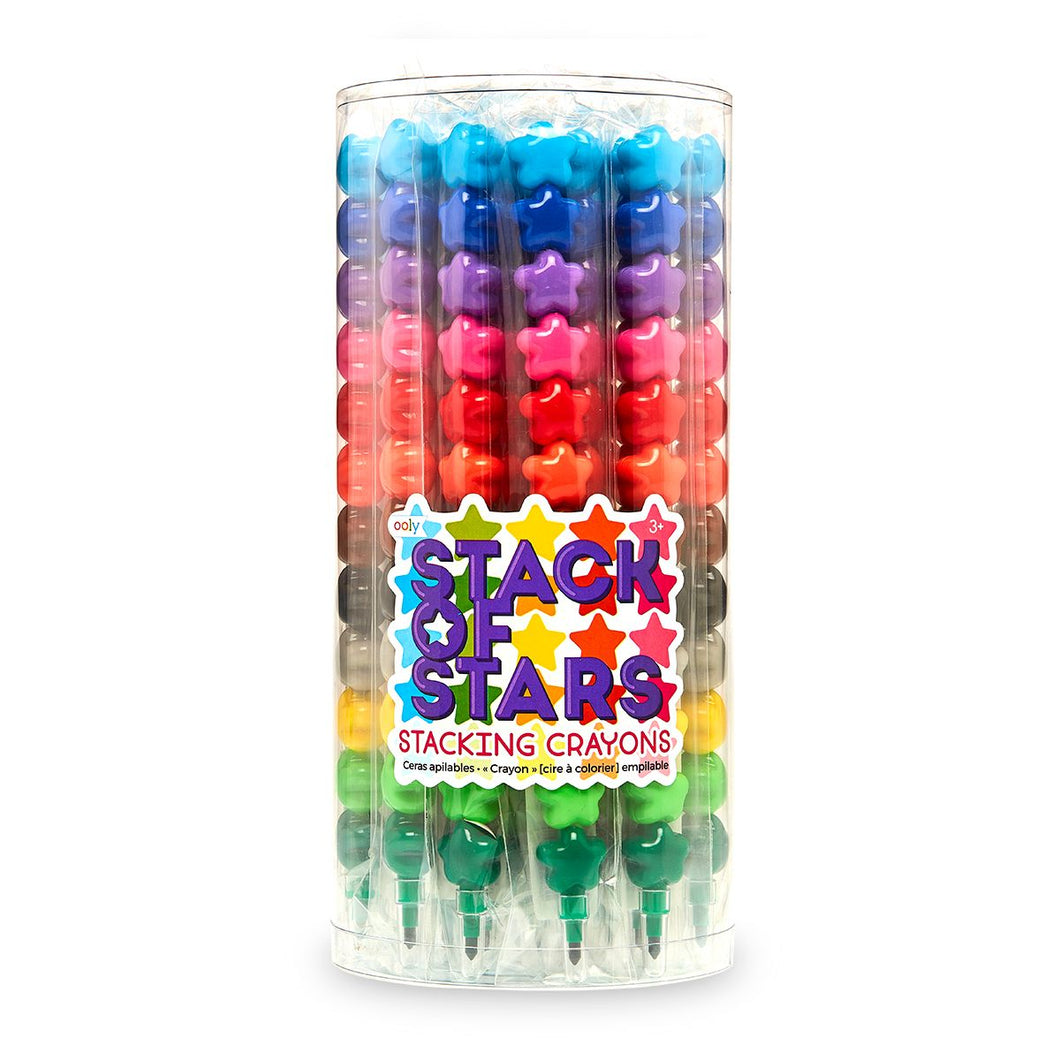 Stack of Stars Stacking Crayons