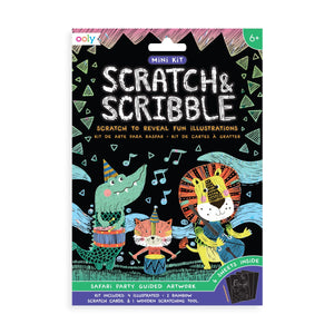 Safari Party Scratch and Scribble Mini Scratch Art Kit