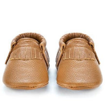 Load image into Gallery viewer, Classic Brown Genuine Leather Baby Moccasins