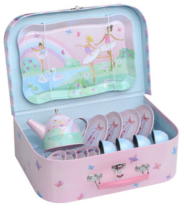 15pc. Ballerina Tin Tea Set