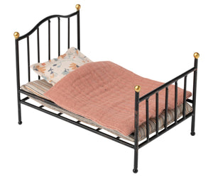 Vintage Bed, Mouse-Anthracite