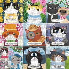 Load image into Gallery viewer, Bookish Cats 500 Piece Family Puzzle
