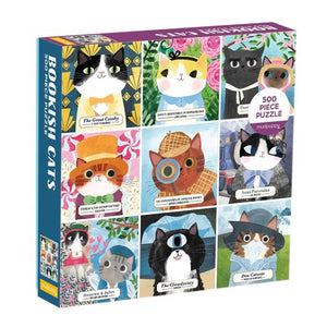 Bookish Cats 500 Piece Family Puzzle