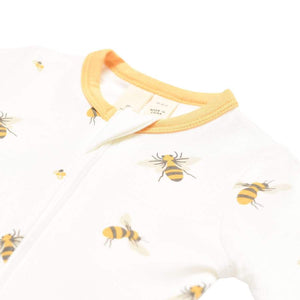 Printed Zippered Footie-Buzz
