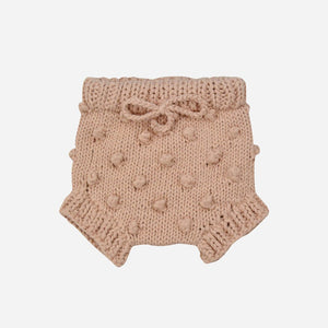 Cotton Knit Popcorn Bloomers - Pink