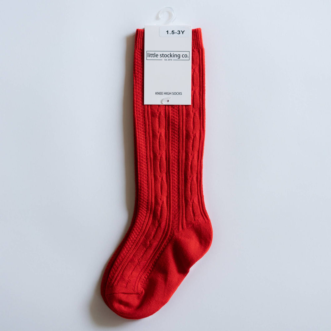 Little Stocking Co. - Bright Red Knee High Socks