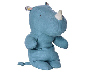 Safari Friends Small Rhino - Sky Blue
