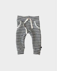 Baby Joggers - Charcoal Stripe