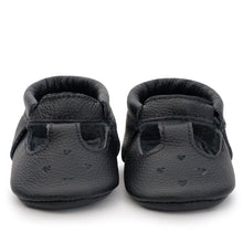Load image into Gallery viewer, Black Mary Janes Moccasins