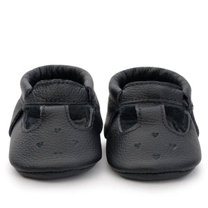 Black Mary Janes Moccasins