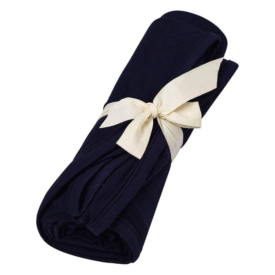 Solid Swaddle Blanket - Navy
