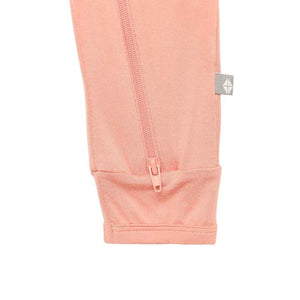Solid Zippered Romper-Terracotta